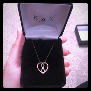 Kay jewelers rose gold infinity heart necklace